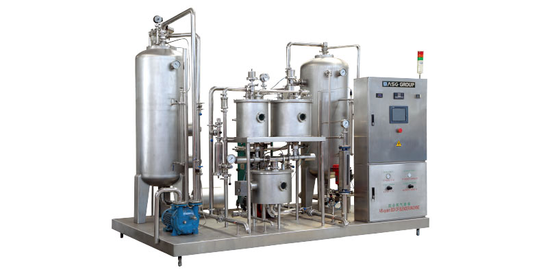 Carbonated beverage filling machine 08